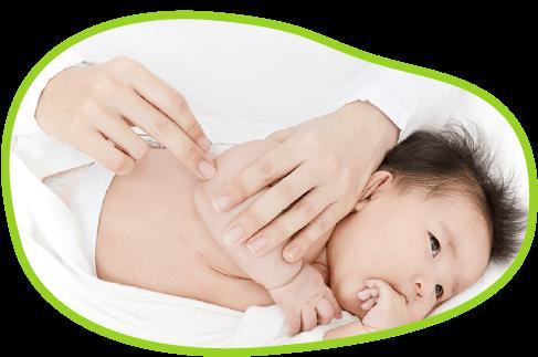 乳幼児予防接種のようす